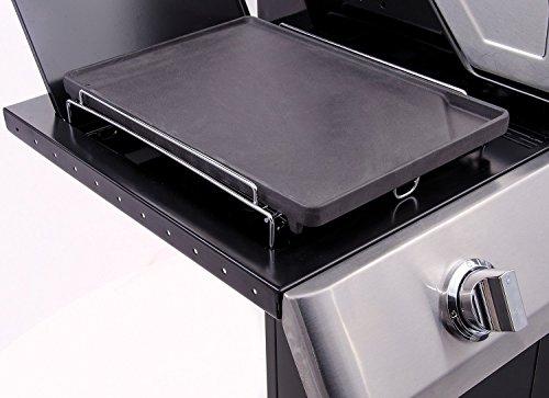 Char-Broil 140 515 - Gussgrillplattenaufsatz für Seitenbrenner alle Char-Broil Modelle.
