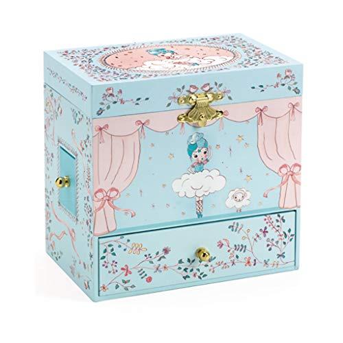 QIAOLI Caja de música Joyero de bailarina con cajones extraíbles, caja de joyería giratoria para bailarinas Windup, caja musical de regalo compatible con niñas Harry Potter caja de música