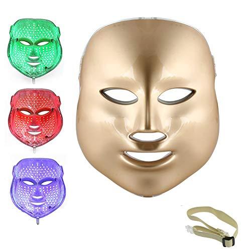 Weijin 3 Kleuren LED-Masker Gouden LED-Lichttherapie Behandeling Gezicht Schoonheid Huidverzorging Foto-therapie Masker voor acne Rimpel Bleken