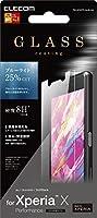 ELECOM Xperia X Performance/SO-04H/SOV33 液晶保護フィルム ガラスコート ブルーライトカット  PM-SOXPFLGLBLAG