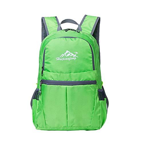 HL Waterproof Klapp Rucksack, Outdoor-multifunktionaler, atmungsaktiver Rucksack, geeignet für Wanderungen Sport Camping Bergsteiger, 4 Farben optional,LightGreen