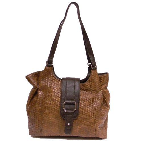 """""""Miriam"""" Satchel Handbag By Bueno of California (Brown)"""
