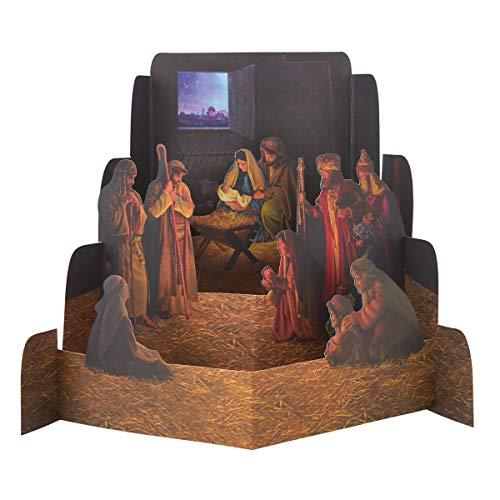 Large Nativity Diorama - Nativity Sets for Christmas Indoor - Manger Scene Christmas Decorations - Christmas Nativity Set - Holy Family Nativity Scene - Christmas Nativity