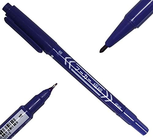 Zebili Marqueur de peau Bleu avec deux pointes