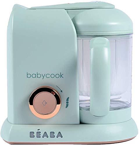 BÉABA - Babycook Neo - 4-in-1 Babynahrungszubereiter - Schonender Dampfgarer - Hergestellt in Frankreich - Glaskrug und Garkorb aus Edelstahl - Weiss
