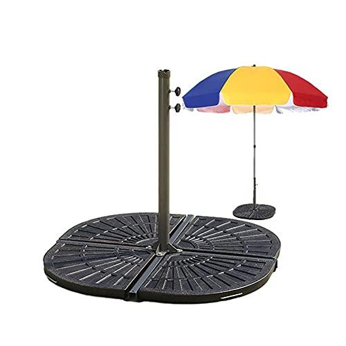 XH Parasol Stands 60 kg Square Parasol Stand Base 4pc Colophony Umbrella Base Garden Patio Outdoor Parasol Bases (Color : Bronze, Size : 45 * 45 * 5cm)