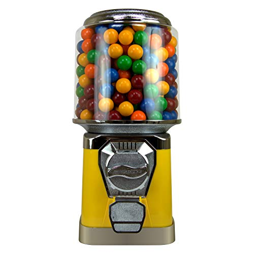 Gumball Machine  Bouncy Balls Vending Machine  Toys Vending Machine  Capsule Vending Machine  Yellow Body Cylinder Bank  Without Stand Yellow
