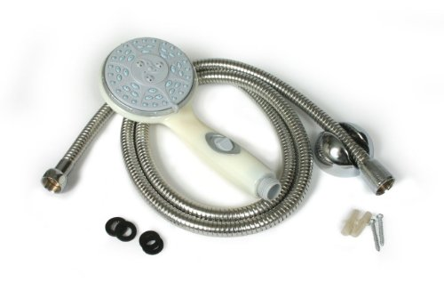 Fantastic Deal! Camco 43715 Shower Head Kit with On/Off Switch and 60 Flexible Shower Hose (Off-Whi...