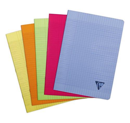 Clairefontaine Fresh 328161C Heft (französische Lineatur, DIN A4, 21 x 29.7 cm, 48 Blatt) 1 Stück farbig sortiert