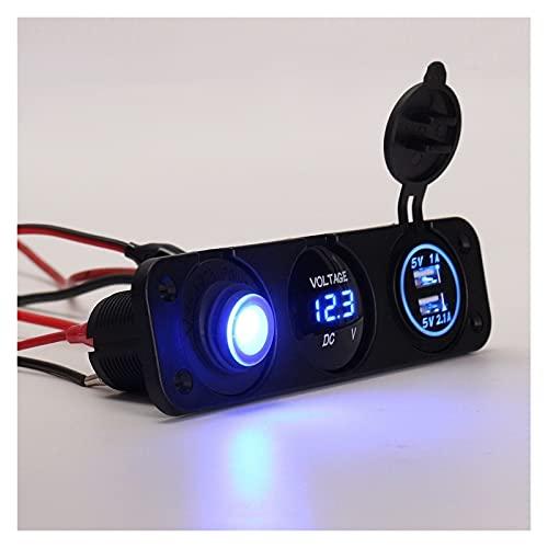 linger DC 12V Car Dual USB 3.1A CARGER Rocker Switch de voltímetro Fit para iPhone/iPod GPS Cámara MP3 MP5