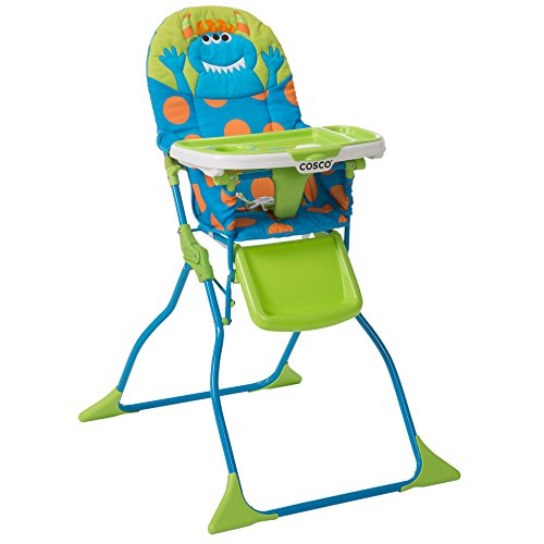 Product Image of the Cosco Simple Fold Deluxe High Chair with 3-Position Tray (Monster Syd)