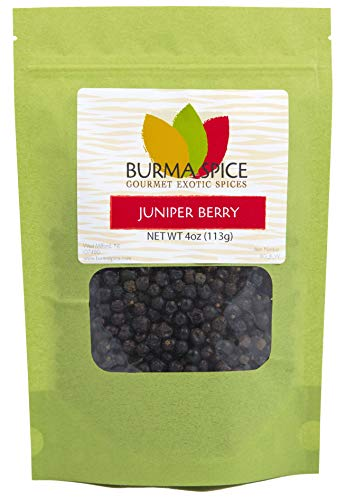Juniper Berries   Perfect for Gin Cocktails and for Tea Infusions   Ideal for Making Dressings, and for Cooking Game Meats Like Deer 4 Oz.
