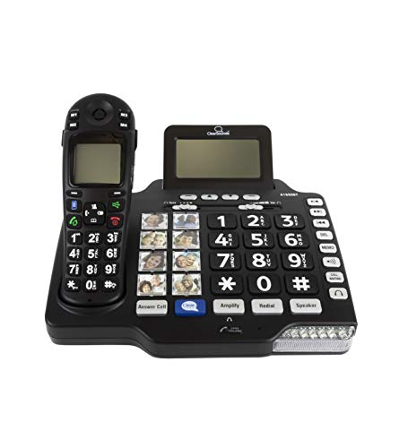 ClearSounds A1600BT iConnect Amplified Cordless Phone with Full Duplex Speakerphone and Answering Machine - Supports DECT 6.0, Multi-Line Operation