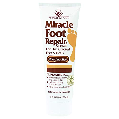 Miracle of Aloe, Miracle Foot Repair Cream with 60%...