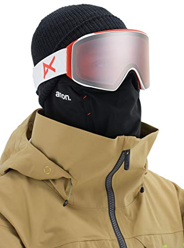 Product Image 4: Anon Men's M4 Cylindrical Goggle with Spare Lens, Eyes Frame Sonar Silver Lens; Spare Lens: Sonar Infrared