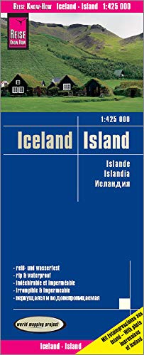 Islandia, mapa impermeable de carreteras. Escala 1:425.000. Reise Know-How.