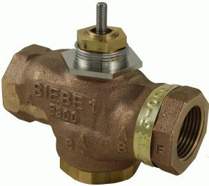 """Schneider Electric VB-7323-0-4-08 Series Vb-7000 Three-Way Globe Valve Body, Npt Threaded Straight Pipe End Connection, Diverting, Brass Plug, 1"""" Port Size from Schneider Electric Buildings"""