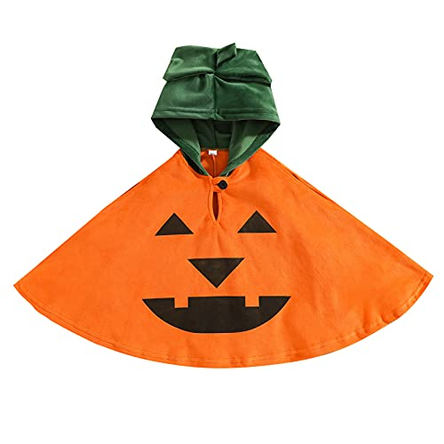 Newborn Infant Baby Boys Girls Clothes Halloween Cloak Robe Ghost Tassel Capes with Hat Blanket Two Piece Funny Outfits (C-Orange, 18-24 Months)