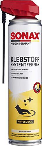 SONAX KlebstoffRestEntferner mit EasySpray (400 ml) schnelle, rückstandslose Entfernung von Klebstoffresten z. B. Etiketten, Folien, Aufklebern, usw. | Art-Nr. 04773000
