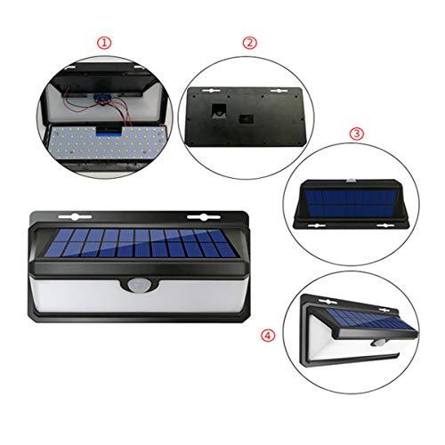 Solar Lights Outdoor, 100 LED Solar Motion Sensor Beveiligingslichten 4400 mAh Zonne-energie Lights Waterdichte draadloze wandlampen Solar Lampen met 3 intelligente modi voor buiten