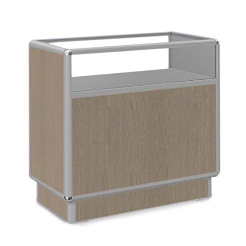 GERSO Ladentisch mit Vitrine 120x50x90cm AHORN