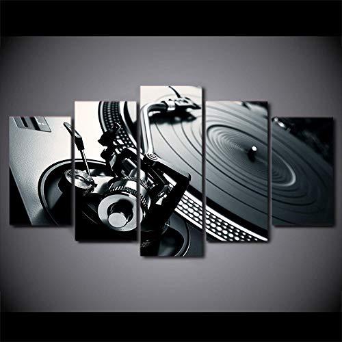 rkmaster-Hd druk 5 stuks canvas kunst Dj muziek moderne CD-speler schilderij woonkamer modulaire muurschildering Cu 2328A
