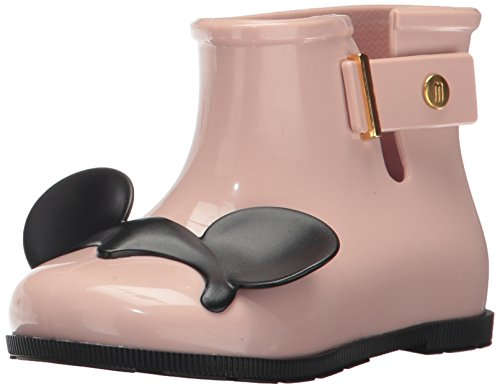 Mini Melissa Girls' Mini Sugar Disney Twins Rain Boot, Blue/Black, 9 Regular US Toddler