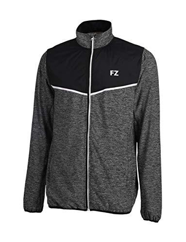 FZ Forza - Sport Trainingsjacke Hereford - grau/schwarz, für Herren - geeignet für Fitness, Running, Fußball, Squash, Badminton, Tennis etc. - L