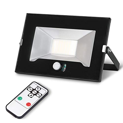 LED Floodlight with Motion Sensor, 35W 3000LM Super Bright Security Light Outdoor, 1m Cable, Waterproof IP65, Daylight 5000K Cold White Spotlight for Garage, Driveway, Garden and Forecourt