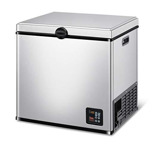 Mini refrigerador Refrigerador eléctrico para Autos, refrigerador para Autos de Doble Uso para automóviles y el hogar, 12V / 24V y 220V, Pesca, Picnic, Playa y Fiesta (Blanco Plateado)