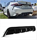 Meyffon Bumper Lip Diffuser Splitter Fits for 2018-2020 Toyota Camry Gloss Black Rear Diffuser Trunk Spoiler Window Roof Wing Spoiler (Rear Bumper Diffuser)