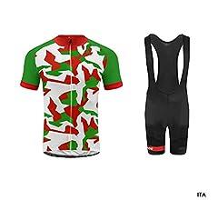 Uglyfrog Color de la Bandera con Camuflaje Mens Ciclismo Jersey Team Ciclismo Ropa Jersey Bib Shorts Kit Camisa de Secado rápido Ropa al Aire Libre de la Bicicleta: Amazon.es: Deportes y aire