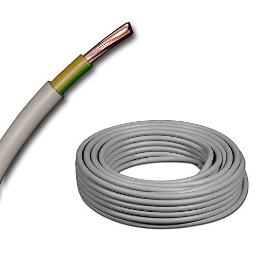 Mantelleitung Erdungskabel Erdungsleitung GRAU NYM-J 1x16 mm² (mm2) Meterware auf den Meter genau, KOSTENLOSER VERSAND - Auswahl in 1 Meter Schritten - Beispiel: 20 m - 25 m - 35 m - 50 m usw.