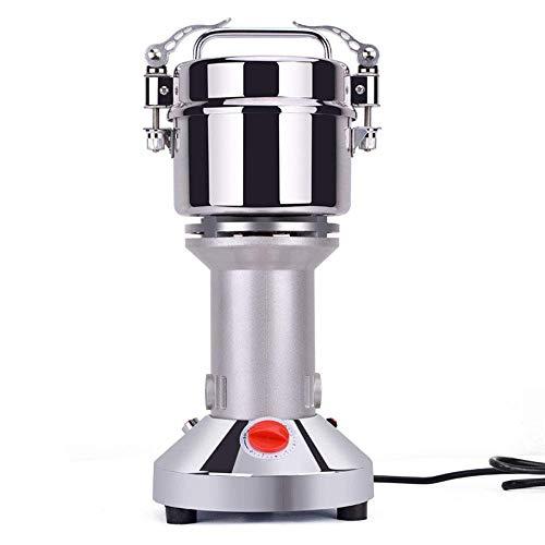 ROM 200G Molino de Grano eléctrico Máquina en Polvo Especias Trituradora de Granos Aparato de Cocina de Acero Inoxidable Molinillo de Granos 3 Cuchillas Sincronización de Mol