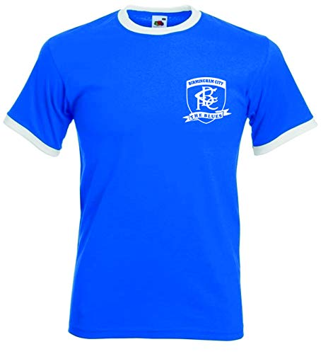 Birmingham City FC. The Blues Retro Football Club T-shirt. (L)