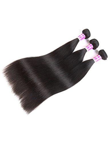 Encii Hair (12 14 16 Inch) Brazilian Virgin Hair Straight 3 Bundles 8A Grade Hair Products Brazilian Hair Weave Bundles Brazilian Straight Human Hair