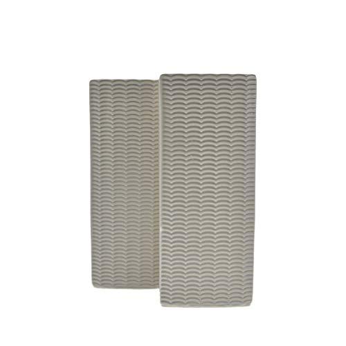 takestop Umidificatori Set 2 Pezzi 9x3x20 cm Per Ceramica Grigio Trama Casuale