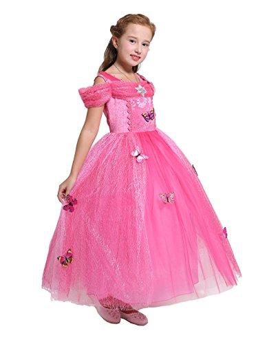 Lito Angels Niñas Bebé Princesa Aurora Cenicienta Mariposa Fiesta de Disfraces Traje de Halloween Talla 18-24 Meses Rosa Fuerte