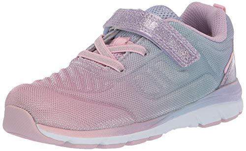 Stride Rite Girls Made2Play CORA Sneaker, Pastel Multi, 6 Wide Toddler