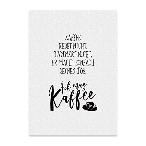 Kunstdruck, Poster mit Spruch – ICH MAG Kaffee – Typografie-Bild auf hochwertigem Karton - Plakat, Druck, Print, Wandbild
