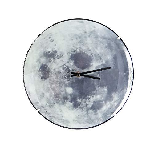 ETL – Reloj de pared con diseño de luna, radio-controlado – 30 cm