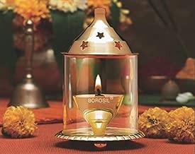 Borosil Akhand Diya (Medium, Brass)