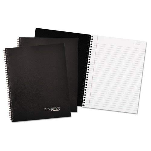 Cambridge Ltd 45012 Wirebound Business Notebook Plus Pack, 9 1/2 x 7 1/4, Black, 80 Sheets, 3/Pack