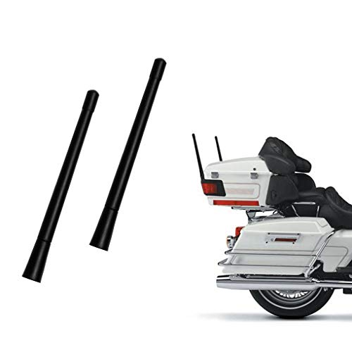 7- inch Short Custom Flexible Rubber Fit Harley Davidson Motorcycle Antenna AM/FM for 1989-2019 Touring Electra Glide Ultra Classic (2 Pack)