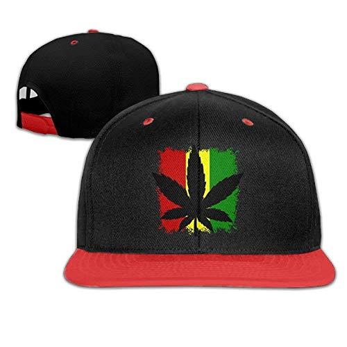 Aeykis Justierbare Baseball-Jugend-Kappen Hip Hop-Hüte Rasta-Krieger-Flaggen-Blatt Jungen-Mädchen
