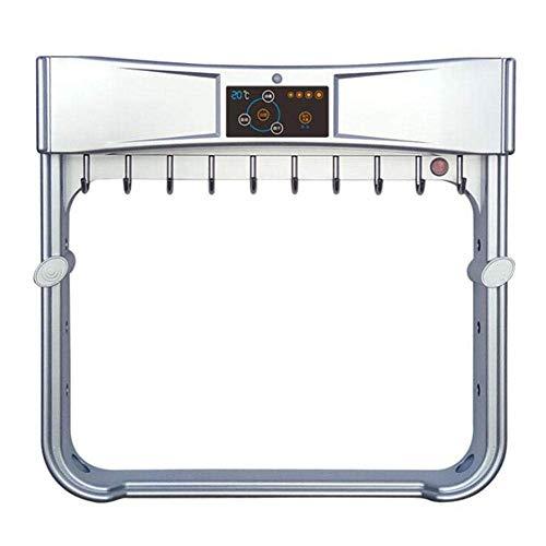Soul hill Toalla eléctrica Inteligente Carril toallero 304 Toalla de baño Estante de Corte Libre calefacción eléctrica Toalla de Secado y desinfección de la máquina-Oro (Color : Silver)