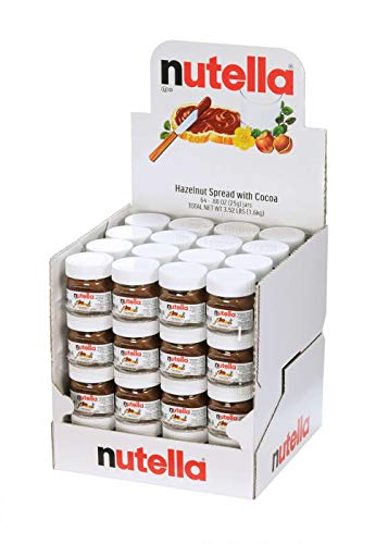 Nutella Hazelnut Spread with Cocoa Glass Jar.88 Ounce - 64 per case.