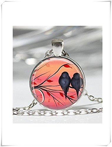 Pájaro Collar Amor Aves Agapornis joyas