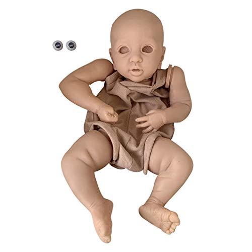 Juego de muñecas para bebé Reborn, 17 pulgadas, Layla Sleeping Realistic Soft Vinl Lifelike Reborn Baby Dolls DIY Kit for Birthday Present, Children Playmates, Gift