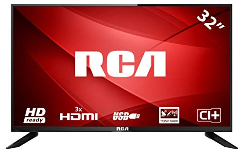 RCA RS32H1 LED TV (32 pollici HD TV), CI+, HDMI+USB, Triple Tuner, 60Hz, Mediaplayer
